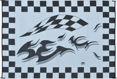 Mings Mark Checkered Flag RV patio mat