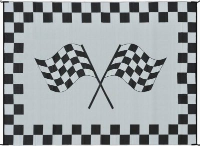 Mings Mark Racing Flag RV rug