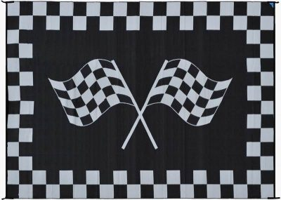 Mings Mark Racing Flag Reverse RV rug