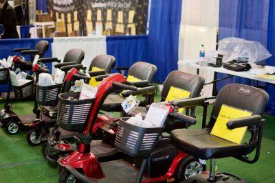 Mobility scooters Quartzsite big tent