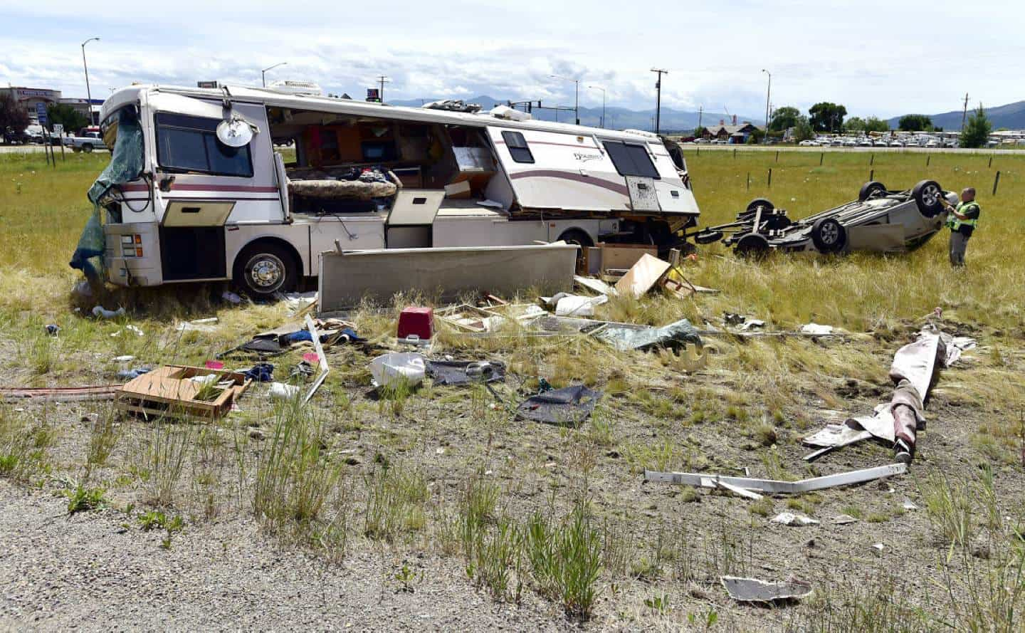 Motorhome Rollover Wreck