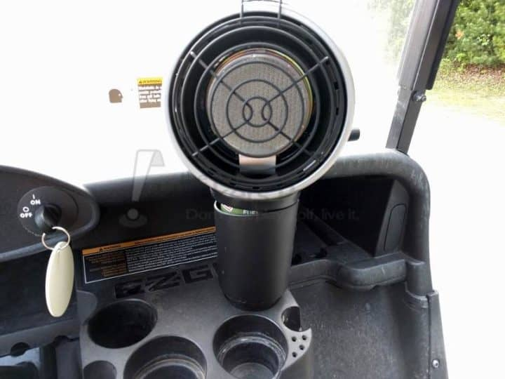 Mr Heater golf cart heater installed