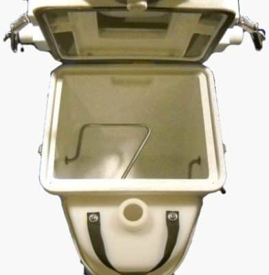Natures Head composting toilet composting compartment
