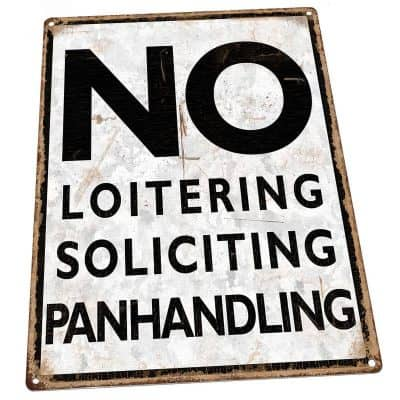 No loitering sign