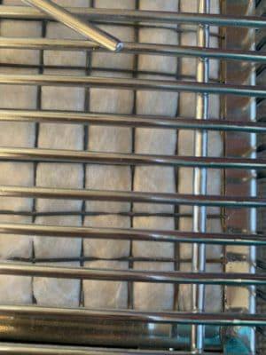 Olympian catalytic heater pad closeup