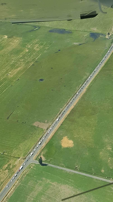 Oregon Solarfest RV entrance line