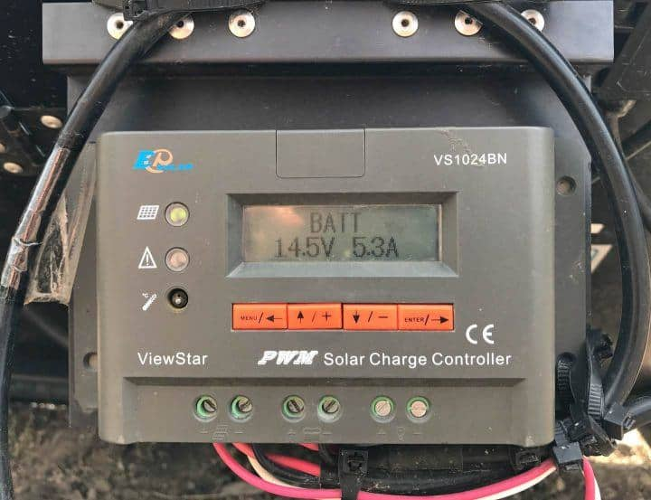 PWM Solar Charge Controller in use