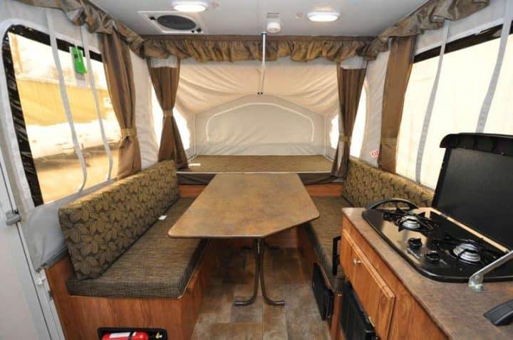 Pop-Up Tent Trailer interior