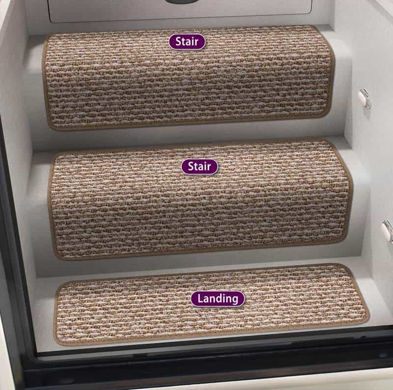 Prestofit Step Huggers RV step rug set