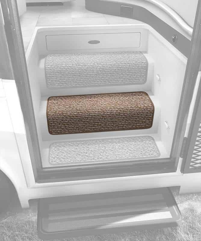 Prestofit Step Huggers RV step rug single install