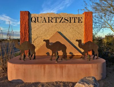 Quartzsite Entrance Sign
