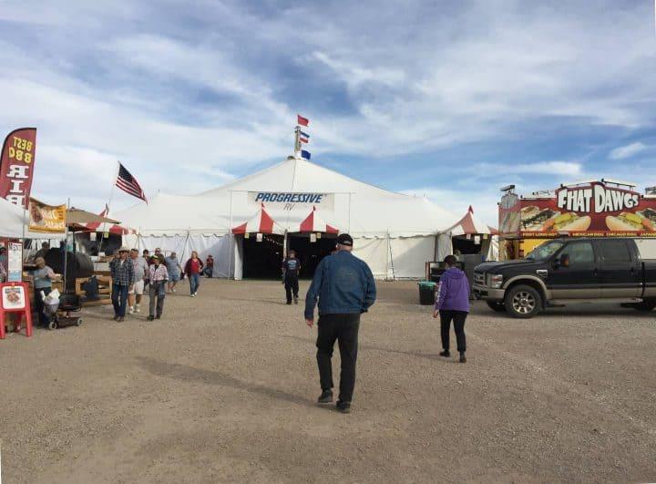 Quartzsite RV show big tent exterior