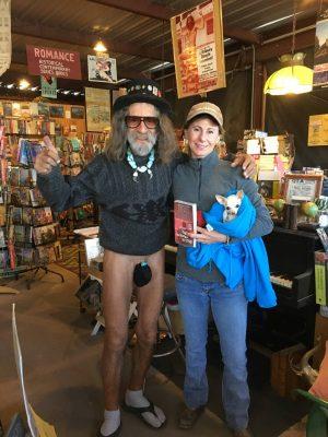 Quartzsite book store banana hammock guy