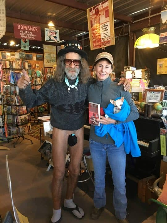 Quartzsite book store banana hammock guy