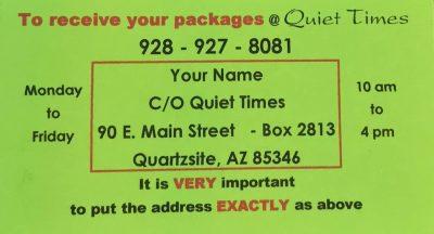 Quiet Times address