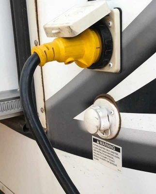 RV power cord bend