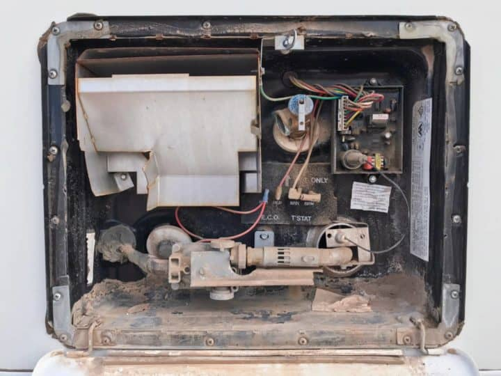 RV water heater components