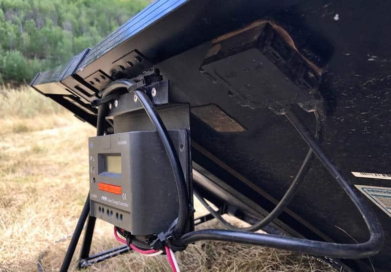 Renogy 100 watt portable solar system controller mount