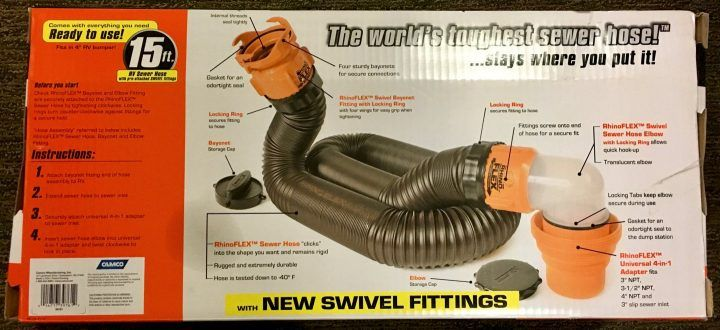 RhinoFlex 15 foot sewer hose