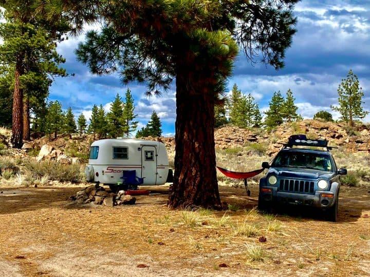 Rick's Scamp small trailer camp setup