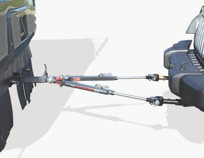 Roadmaster Falcon All Terrain RV tow bar connected