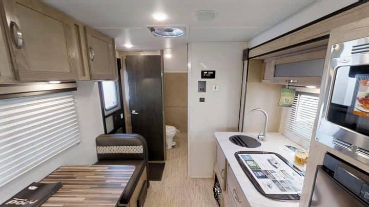 Rpod 180 small trailer interior