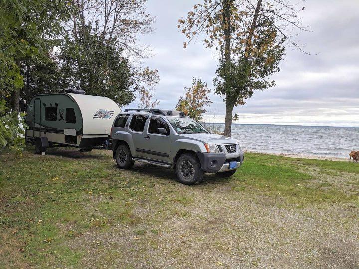 Rpod connected to Xterra at Lake Michigan