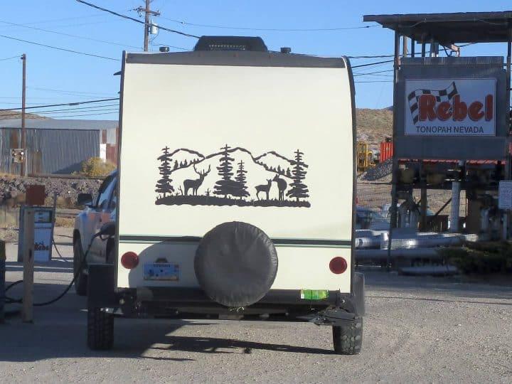 Rpod small camper trailer rear