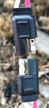SAE connector apart