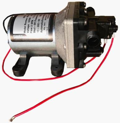 Shurflo 4008 12 volt RV water pump right side