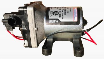 Shurflo 4008 12 volt water pump left side