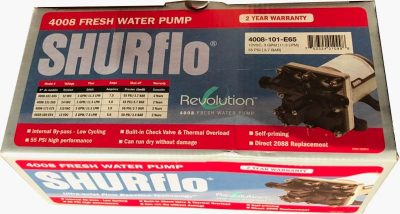 Shurflo RV water pump 4008 box