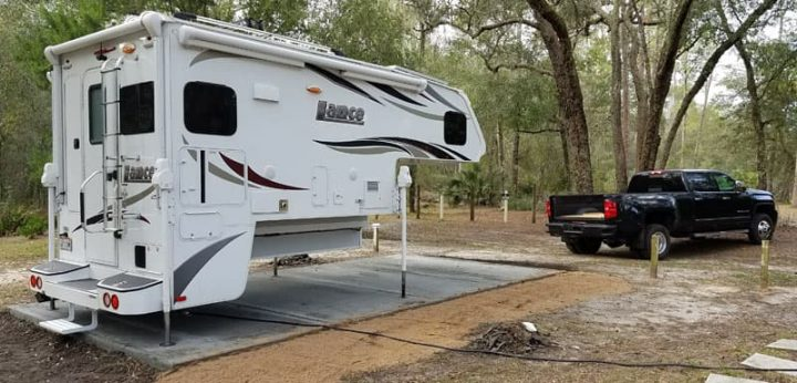 Slide-In Camper off truck