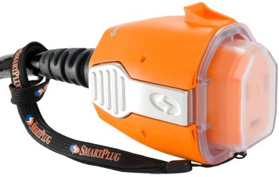 SmartPlug weather cap installed