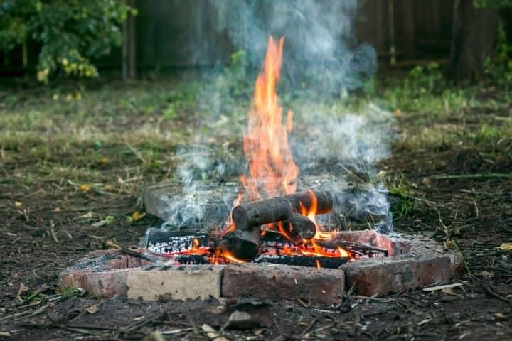 Smokey campfire