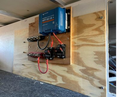 Solar controller sub assembly installed