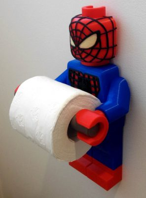Spiderman toilet paper holder