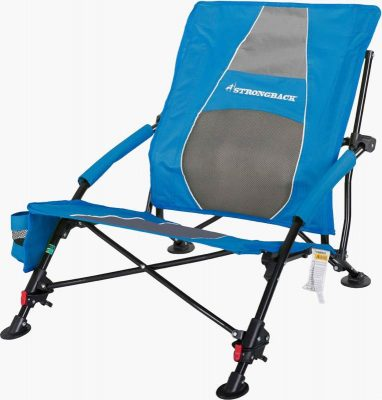 Strongback Low Gravity reclining camp chair extended