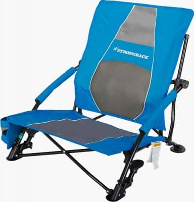 Strongback Low Gravity reclining camp chair retracted
