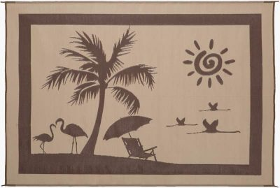 Stylish Camping Beach Paradise outdoor camping rug