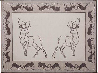Stylish Camping Deer RV outdoor mat