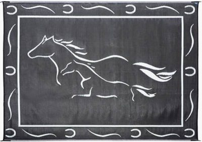 Stylish Camping Galloping Horses RV mat