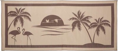 Stylish Camping Tropical Oasis RV Mat
