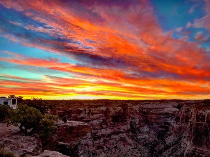 Sunset at Wedge Overlook Utah