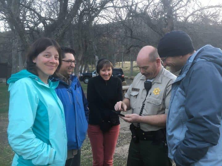Talking to Sheriff