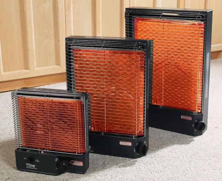 Three Olympian Wave heater sizes