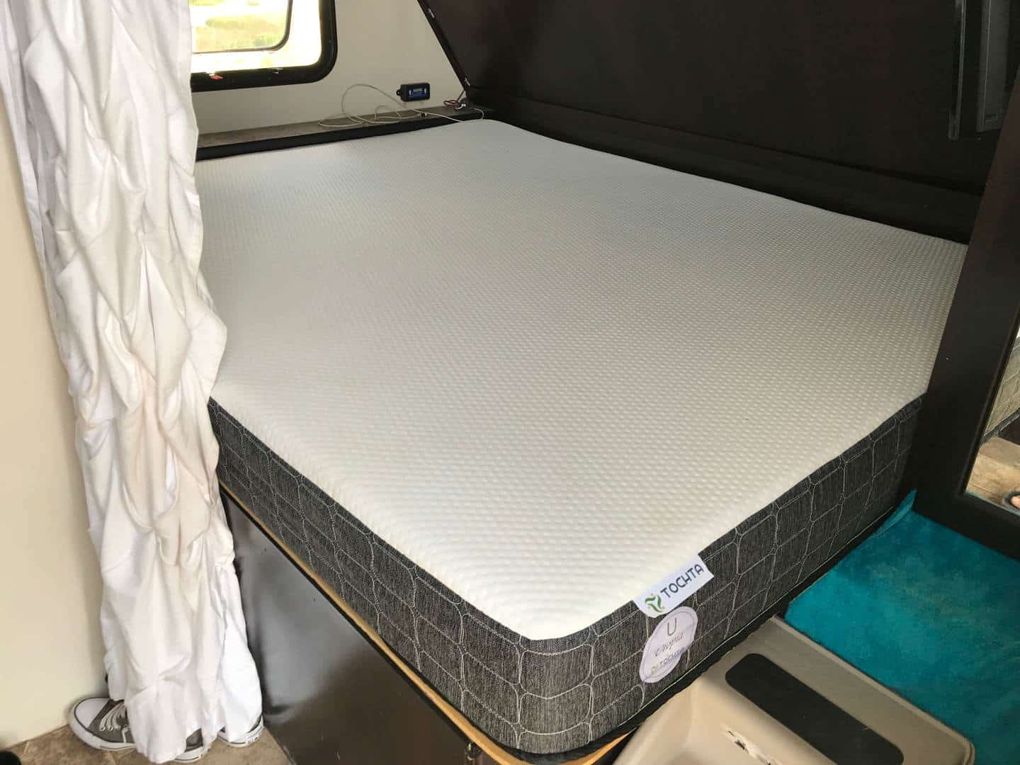 Tochta custom RV mattress installed