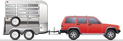 Towing with weight distribution hitch