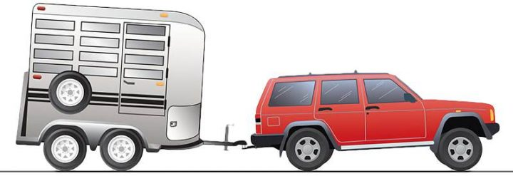 Towing without weight distribution hitch