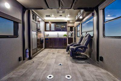 Travel Trailer toy hauler interior no separation